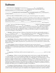 Sublease Contract Template Monthly Payment Contract Template Fresh 24 24 Sublease Contract 17