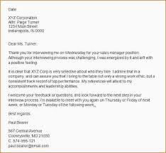5 Thank You Letter After Interview Samples Ganttchart Template