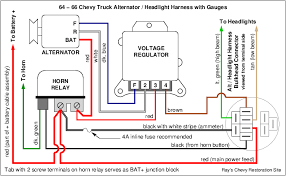 converting to 1 wire delcotron alternator amp meter question i know you already have gauges but this diagram shows how the stock 64 66 wiring was originally configured and it shows where to locate one of the 4 amp