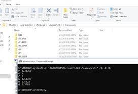 how to check net framework version