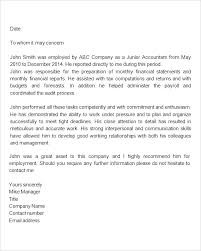 Employee Job Recommendation Letter Davidhdz Co