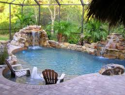 waterfall pool landscaping