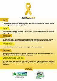 Maio Amarelo | A mais impactante mobilização, continua sendo com a educação  infantil !!!
