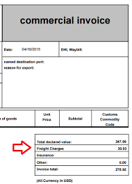Commercial Invoice Freight Charges And Commercial Invoices Shippo