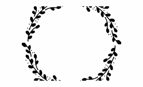 Circle Border Drawn Wreath Vector Floral Circle Border Black And White