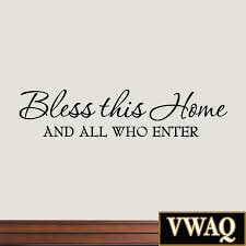 bless this home and all who enter wall decals quotes religious sayings vinyl  on allah bless this home wall art with bless this home and all who enter wall decals quotes religious
