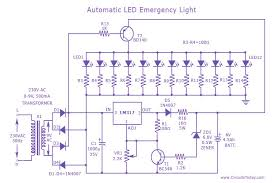 automatic led emergency circuit diagram