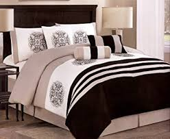 Amazon 7 Pieces Embroidery Medallion forter Set Bed In A