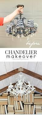easy diy chandelier makeover