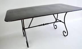 Table en fer forgé coustellet 1,20m x 0,80m. Mobilier en fer forgé ...