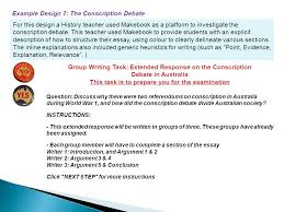 centre for excellence epping boys high school makebook project  example design 7 the conscription debate