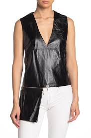 image of tov my secret side removable pouch faux leather top