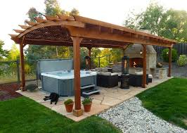 rounded pergola with roof and columns