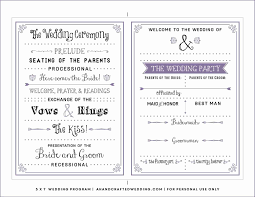 Modern Wedding Program Templates Runticino Artelanini Org Fall