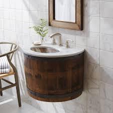 wall mounted bathroom vanity. Bordeaux Wine Barrel Wall-Mounted Bathroom Vanity Base Wall Mounted T