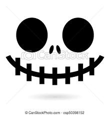 幻影 恐い あるいは モンスター 大きい ハロウィーン 顔 ベクトル 口 鼻 歯 カボチャ 目 気味悪い