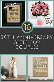 16 best 30th anniversary gifts for couples husband wife him her gifts giftideas giftforher ideas love giftsforher