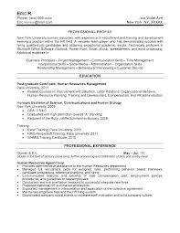 Human Resources Resume Sample Unique Sample Resume Human Resources Gyomorgyuru