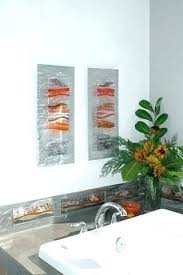 fused glass wall art panels bathroom decor stained hanging