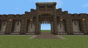 minecraft wall designs. Detailed Medieval Wall + Entrance! Now With Added Guard Tower! Minecraft Project Designs L