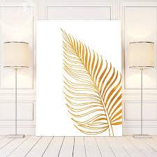 white wall art gold leaf wall art