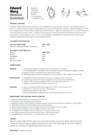 Sample Resume For Medical Assistant Beauteous Medical Assistant Resume Examples Fresh Skills Pertaining Entry