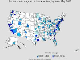 technical writers top paying metropolitan areas for this occupation