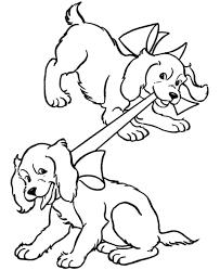 Disegno Cagnetti Che Giocano Da Coloraredisegno Piccoli Cani Da