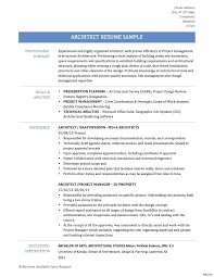 Architecture Resume Examples resume Architects Resume 38
