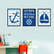 boy nautical wall art blue baby boy let your dreams set sail oil painting on baby boy room decor wall art with boy nautical wall art blue baby boy let your dreams set sail oil