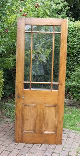reclaimed victorian 9 panel half glass exterior or interior door