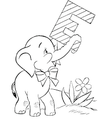 Mother And Baby Elephant Coloring Pages Free Printable Coloring
