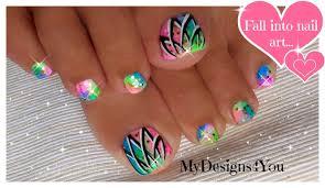Summer Toenail Art | Easy Neon Toenails ♥ Diseño de Uñas de Pies ...
