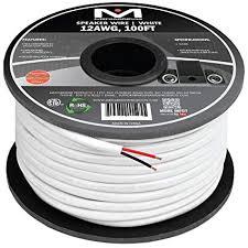 amazon com mediabridge 12awg 2 conductor speaker wire 100 feet mediabridge 12awg 2 conductor speaker wire 100 feet white 99 9%
