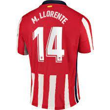 Danxen - Herren Fußball Marcos Llorente #14 Heimtrikot Rot Trikot 20/21  Hemd Österreich