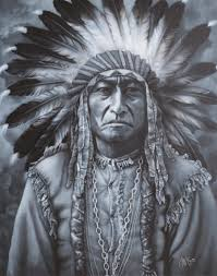 native american art galleries prints painting chief sitting bull