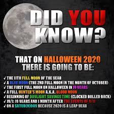 Halloween 2020 is first full moon on 10/31 in 19 years, and falls on  Satur(n)day : occult