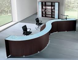 office reception decor. Front Desk Furniture Acrylic Reception L Shape Shell Desks DFS Designs Office Decor T