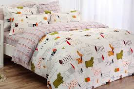 dogs bedding sets bedcover queen king double bed size