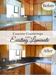 concrete countertops over existing laminate