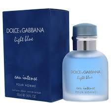 Dolce And Gabbana Light Blue Intense Eau De Toilette Dolce Gabbana Light Blue Intense Eau De Parfum Spray For Men 1 6 Ounce