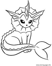 Small Picture Print vaporeon eevee pokemon evolutions coloring pages
