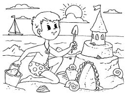5 Disegni Da Colorare Sull Estate Con Bagno Da Colorare Per Bambini