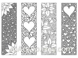 Bookmark Designs To Print Valentines Bookmarks To Print And Color Zentangle Inspired