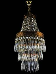 sparkling french vintage style waterfall glass crystal chandelier pendant light