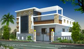 100 sq yds 30x30 sq ft east face house 1bhk elevation view