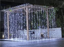 cool white led curtain lights multi function wedding 3x3