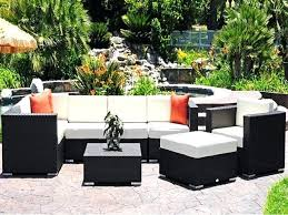 beautiful patio lounge sets for luxury cushion wicker set modern outdoor g48