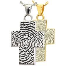 cross fingerprint jewelry