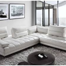 White modern couches Transparent White Modern Leather Sectional Sofa With Adjustable Backrest Imasarainfo Modern Sofas And Sectionals Modern Furniture In Fort Lauderdale